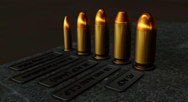 ハンドガンの弾丸一覧