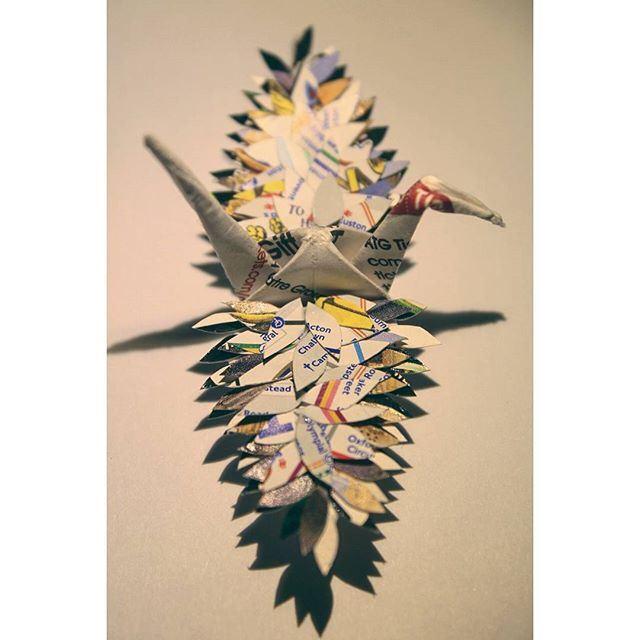 折り鶴アート