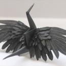 折り鶴もデザイナーの手にかかればアート作品になる【折り鶴アート】