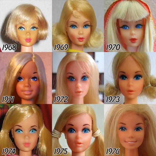 バービー人形の歴史1968-1946