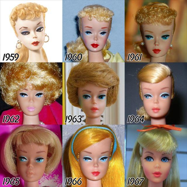 バービー人形の歴史1959-1967