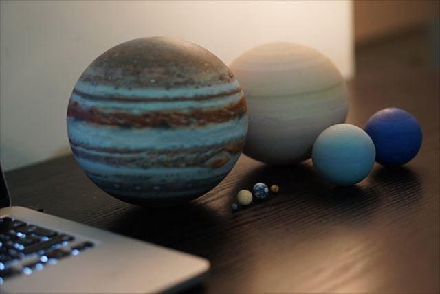 3Dプリンター「惑星の大きさ比較」