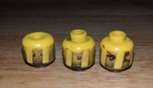 線条痕がついたレゴ弾