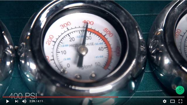 空気圧は400PSI