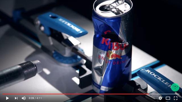 レッドブルの缶をネナーフのダーツが貫通