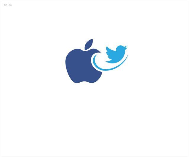 Appleとtwitterのロゴ