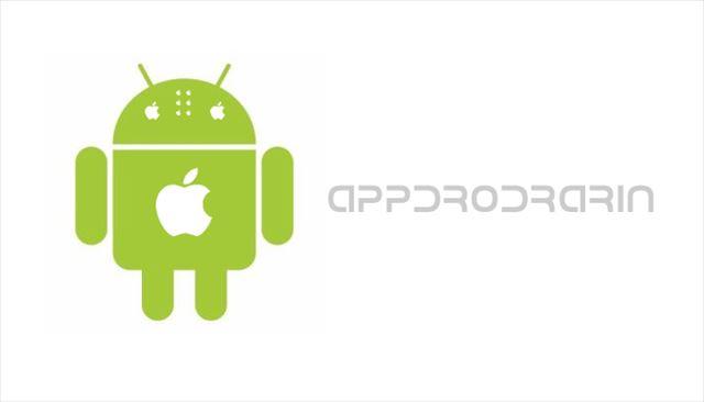 AppleとAndroidのロゴを作ってみたアップドロドラリン