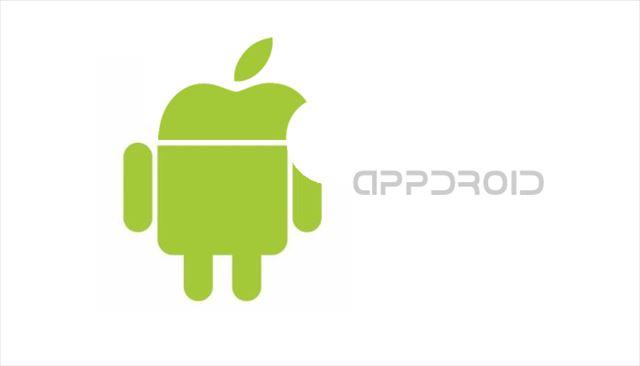 AppleとAndroidのロゴを作ってみたapproid