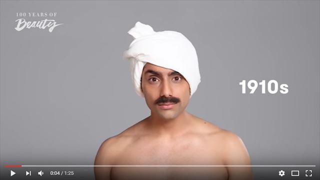 インド人男性の美容変遷1910年