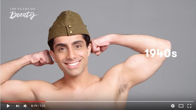 インド人男性の美容変遷1940年