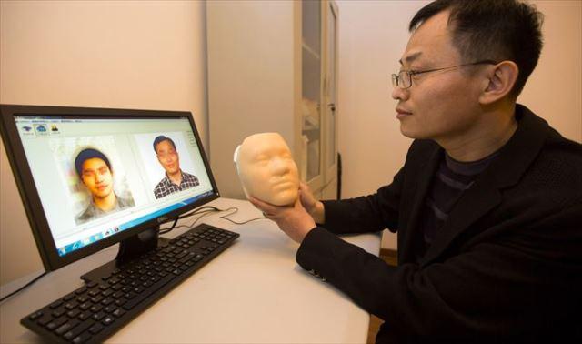 3Dプリンターで顔を復元2