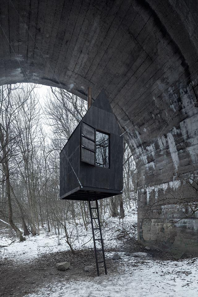 ツリーハウス フライングハウス ブリッジハウス Tree house / bridge house
