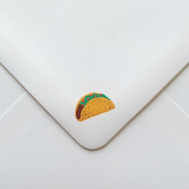 可愛い封筒(タコス)