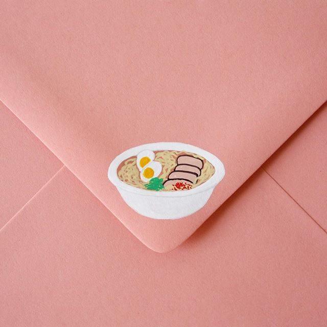 可愛い封筒(ラーメン)
