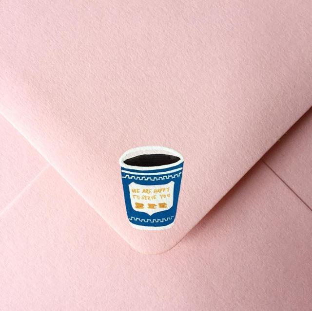 可愛い封筒(コーヒー)