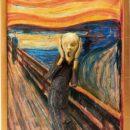 ムンクの叫びの可動式フィギュア 塗装済み igma テーブル美術館