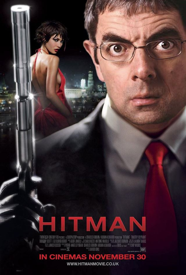 Mr.ビーンのコラ画像 映画ヒットマン