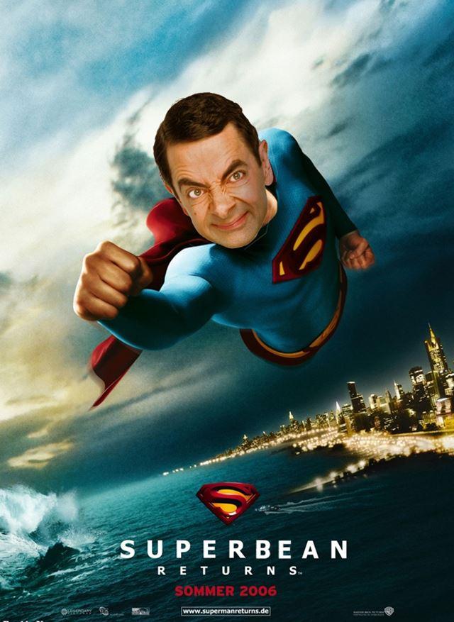 Mr.ビーンのコラ画像 映画スーパーマン