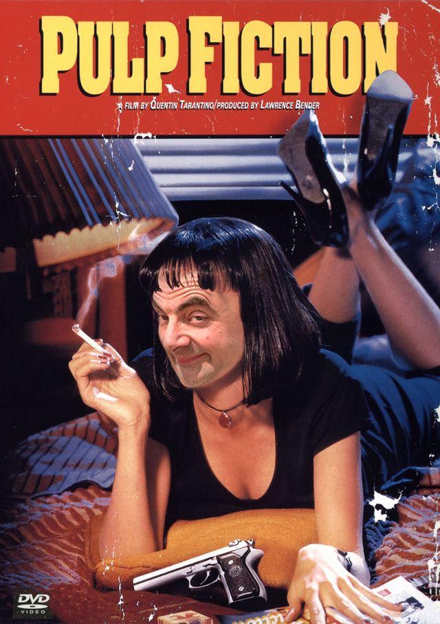 Mr.ビーンのコラ画像 映画パルプフィクション