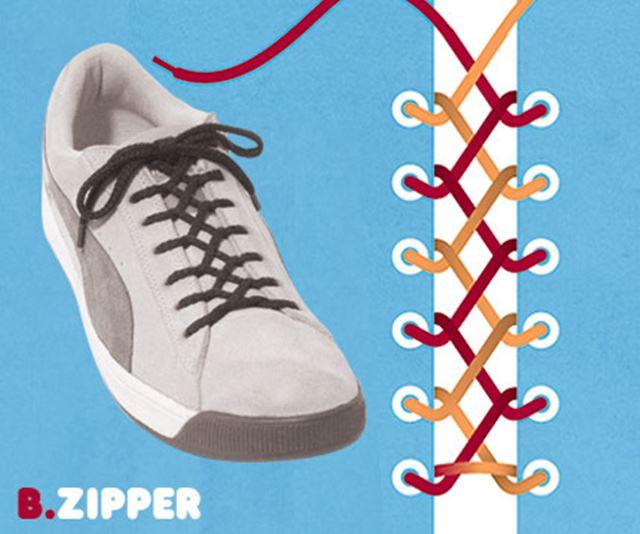 靴紐の結び方 / ジッパー結び