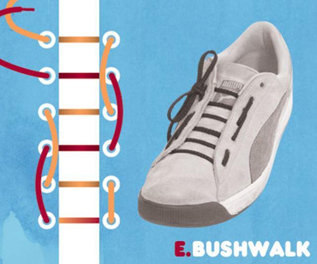 靴紐の結び方 / ブッシュウォーク結び