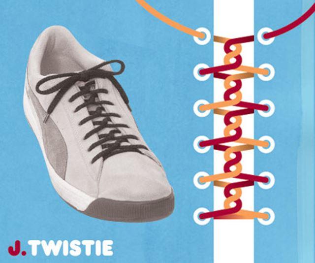 靴紐の結び方 / ツイスト結び