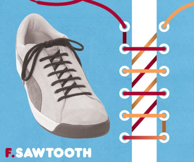 靴紐の結び方 / のこぎり結び ソウトス結び