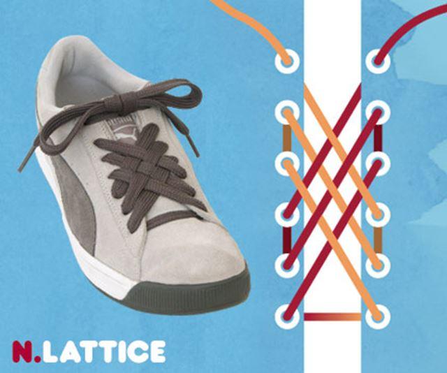 靴紐の結び方 / 格子結び ラチェット結び