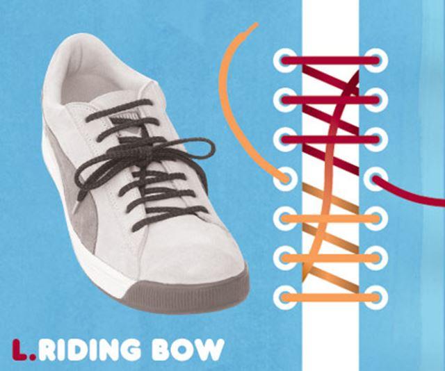 靴紐の結び方 / 流鏑馬結び ライディングボウ結び