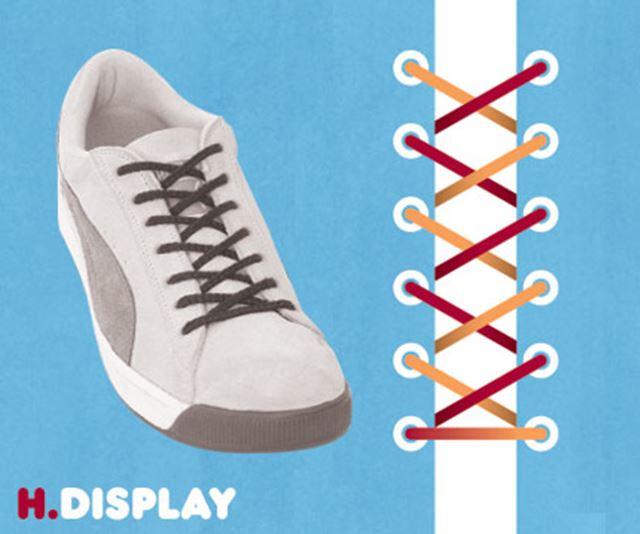 靴紐の結び方 / ディスプレイ結び
