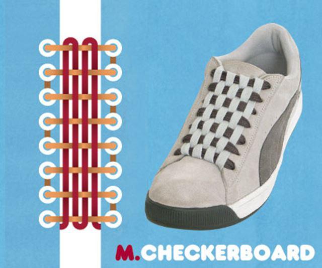 靴紐の結び方 / チェッカー結び