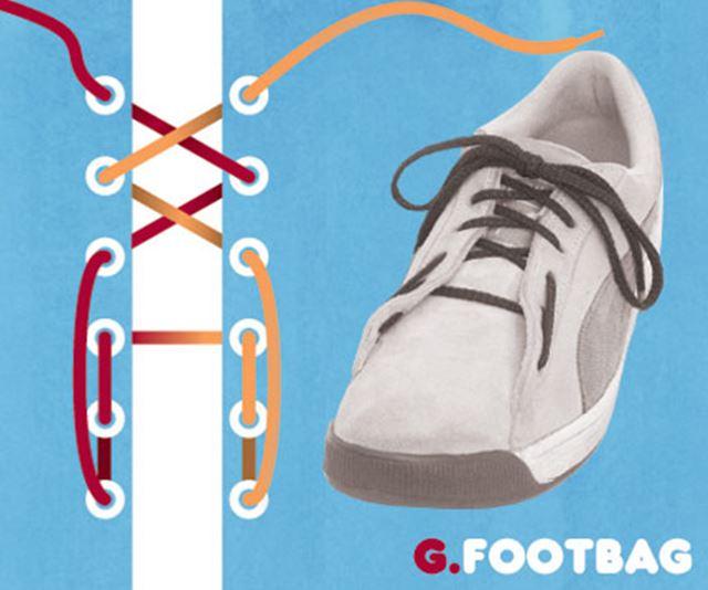 靴紐の結び方 / フットバグ結び