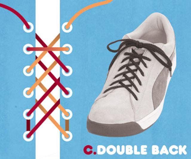 靴紐の結び方 / ダブルバック結び