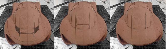 メルセデス・ベンツ 新型SLコンセプトのモデルメイキング クレイ下地作業