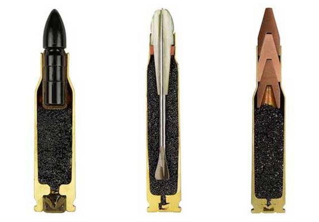 ライフル弾の断面図