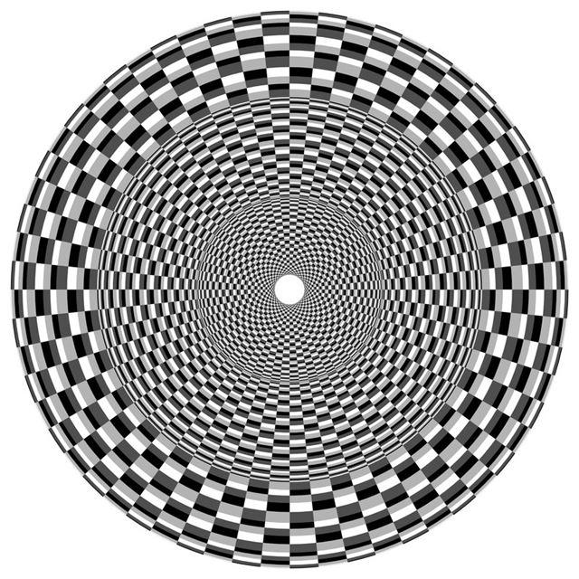 目の錯覚画像・オプアート(OpArt)巻き込む様に見える