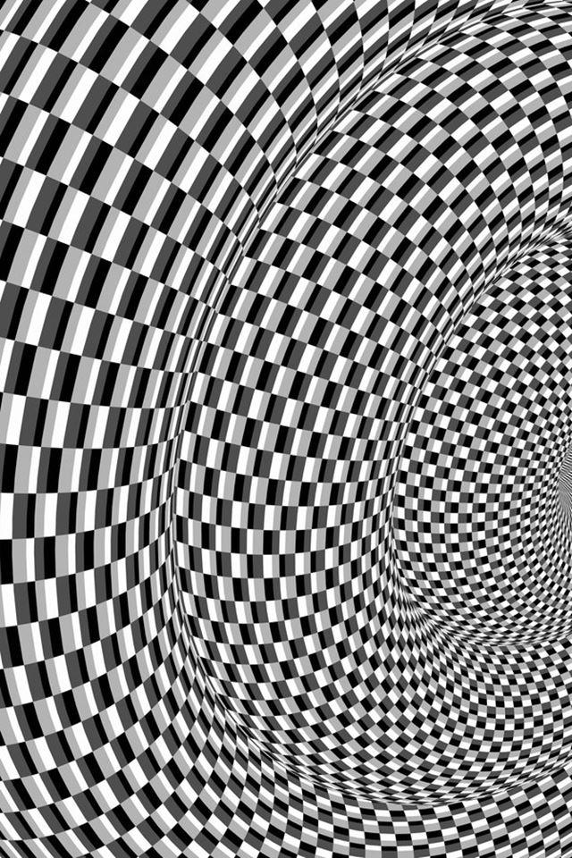目の錯覚画像・オプアート(OpArt)波打って見える