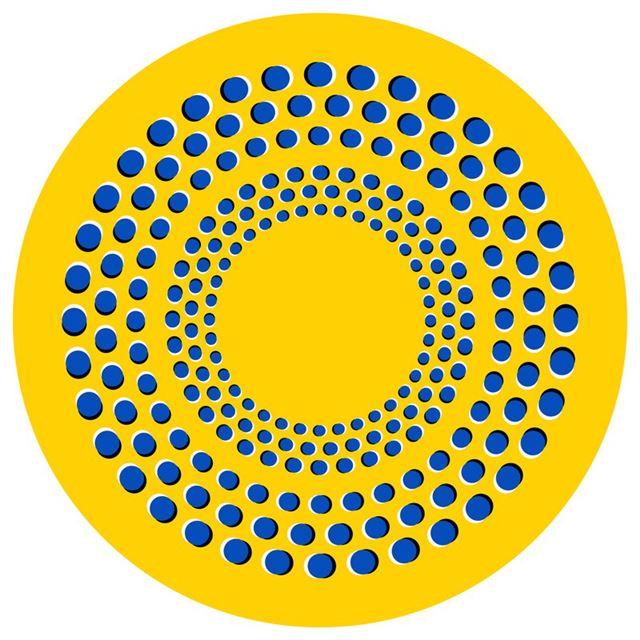 目の錯覚画像・オプアート(OpArt)周りが回転して見える