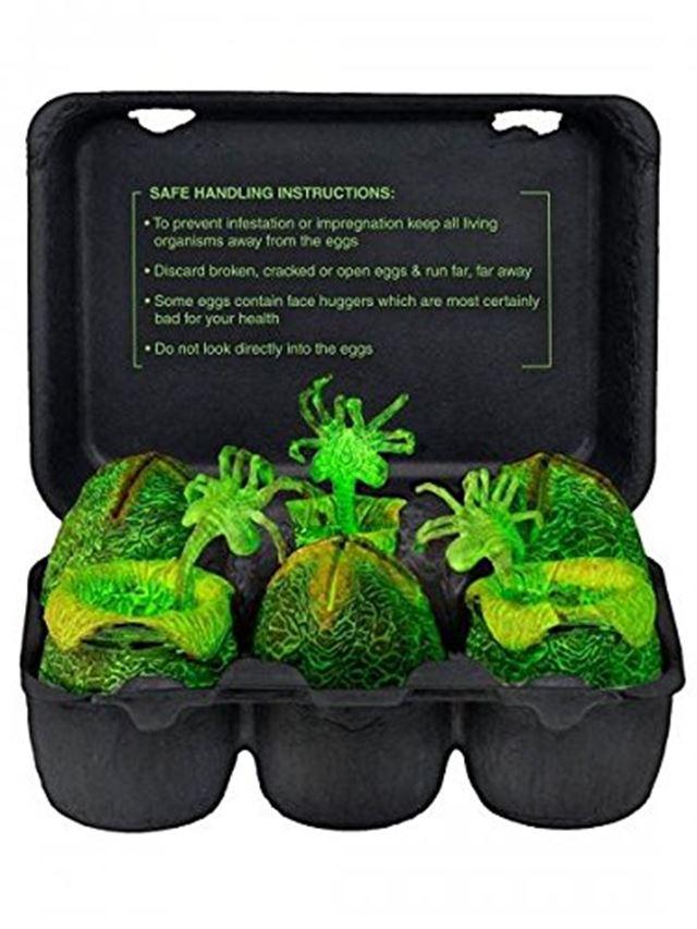 エイリアンの卵(蛍光)の卵パック ネカ エイリアン 7インチ フィギュア エイリアンエッグ&フェイスハガー コレクターパック グローインザダーク