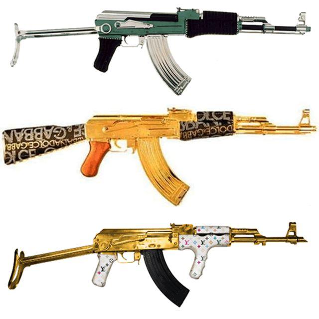 実銃AKー47のカスタム デコレーション 自動小銃/アサルトライフル 2
