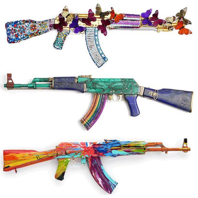 実銃AKー47のカスタム デコレーション 自動小銃/アサルトライフル 3