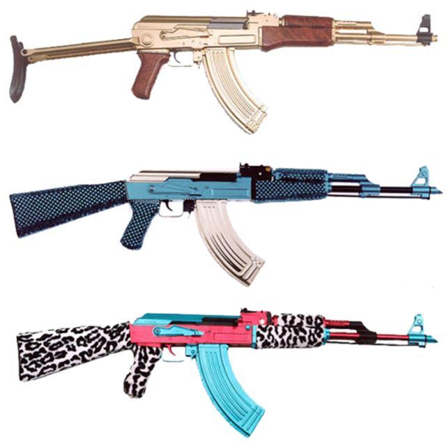 実銃AKー47のカスタム デコレーション 自動小銃/アサルトライフル 4