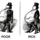 金持ちと貧乏人は似て非なる者、風刺画が面白い