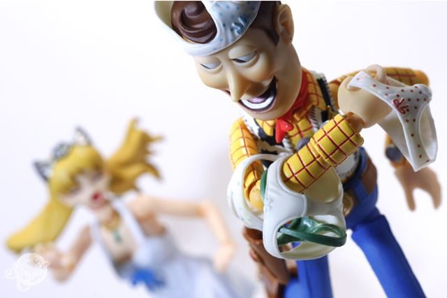 変態 ウッディ フィギュアの面白いネタ画像 パンツ泥棒【リボルテック】