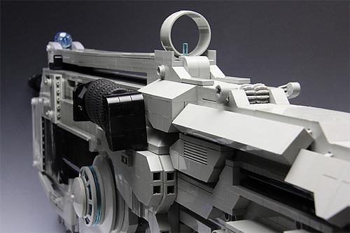 サイト レゴで作られた銃 ギアーズオブウォーのランサーアサルトライフルを再現