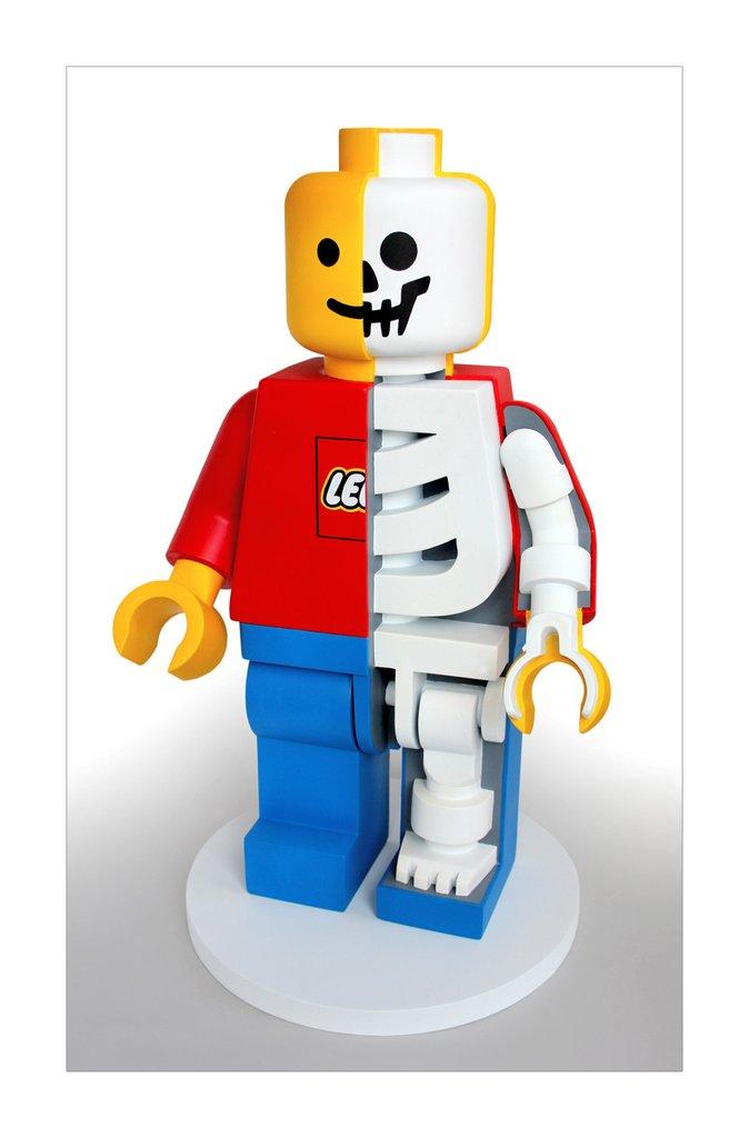 レゴのジャンボフィグ骨格模型のプリント