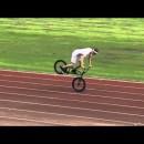 BMXでカクカクしながら耐えるジャックナイフ走行