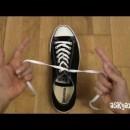 靴紐を1秒で結ぶ方法
