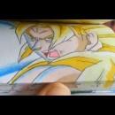 ドラゴンボールのパラパラ漫画「悟空vs超一星龍(オメガシェンロン)」作品が凄い