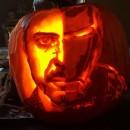 ハロウィンかぼちゃでアイアンマンの作り方